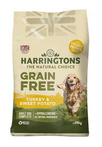 Harringtons Grain Free Dog Food Turkey & Sweet Potato