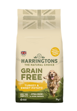 Load image into Gallery viewer, Harringtons Grain Free Turkey & Sweet Potato Dry Dog Food