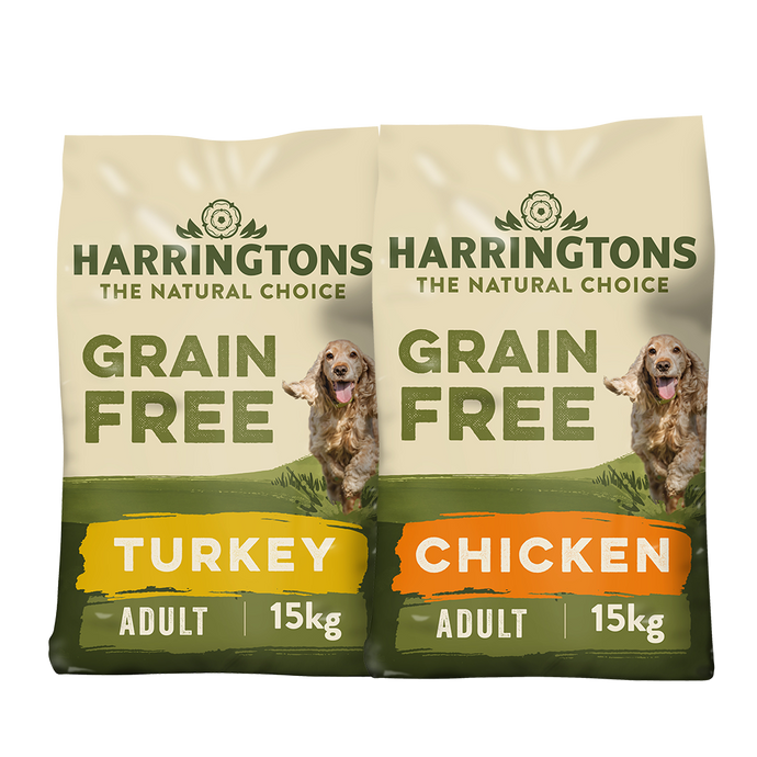 Harringtons 2x Grain Free Dry Dog Food Bundle
