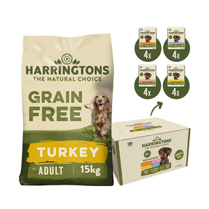 Harringtons Grain Free Dry & Wet Dog Food Bundle