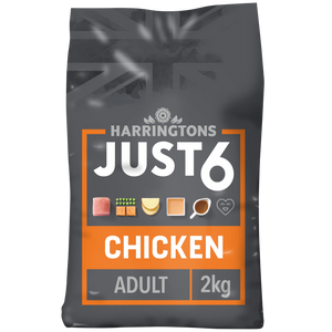 Just 6 Chicken & Vegetable Grain Free Dry Dog Food 2kg