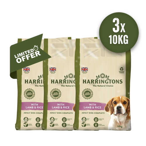 Harringtons Triple Lamb & Rice 10kg Bundle