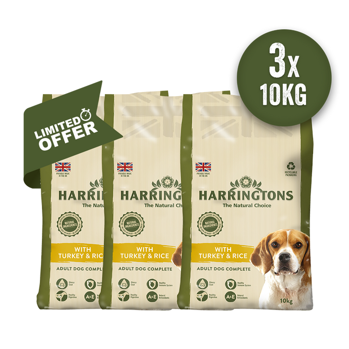 Harringtons Triple Turkey & Rice 10kg Bundle