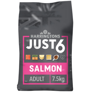 Harringtons Just 6 Salmon & Vegetable Dry Dog Food 7.5kg