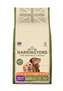 Harringtons Complete Senior Dry Dog Food Chicken & Rice