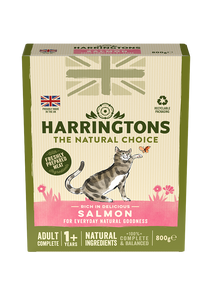 Harringtons Adult Cat Food Rich in Salmon 800g