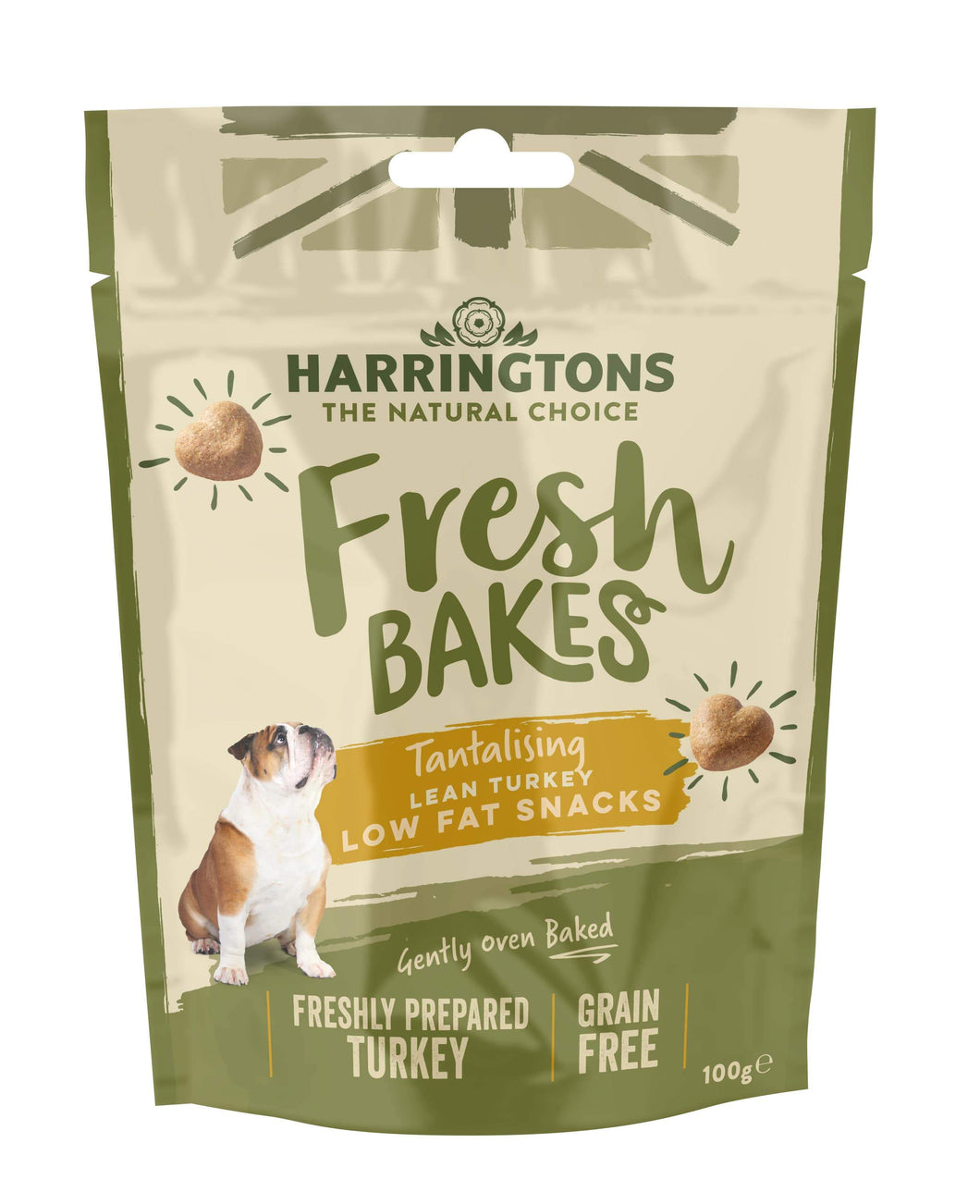 Harringtons Fresh Bakes Lean Turkey Low Fat Snacks Front