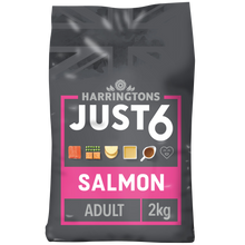 Load image into Gallery viewer, Just 6 Salmon & Vegetable Dry Dog Food 2kg