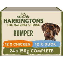Load image into Gallery viewer, Harringtons Mixed Wet Dog Food Bumper Pack 24 x 150g
