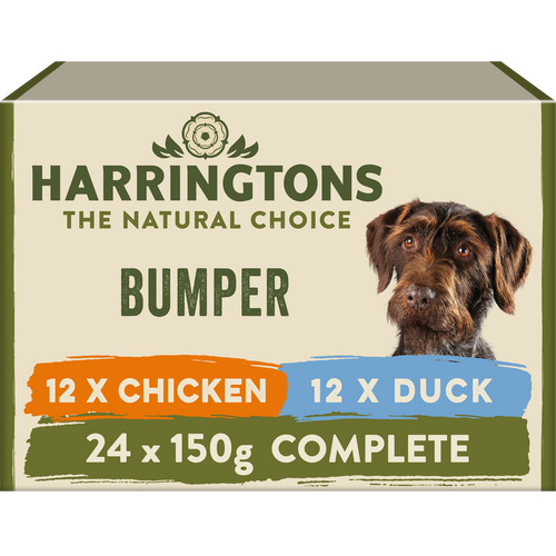 Harringtons Mixed Wet Dog Food Bumper Pack 24 x 150g