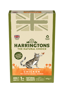 Harringtons Adult Cat Food with Fresh Chicken 425g Multipack