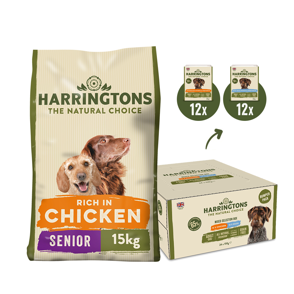 Harringtons Senior Dry Dog & Wet Food Bundle