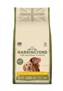 Turkey & Vegetable Dry Dog Food 5KG