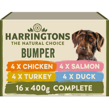 Load image into Gallery viewer, Harringtons Mixed Wet Dog Food Bumper Pack 16 x 400g