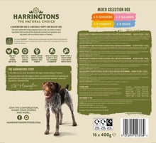Load image into Gallery viewer, Harringtons Mixed Wet Dog Food Bumper Pack 16 x 400g Ingredients