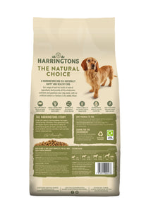 Harringtons Beef & Rice Dry Dog Food Ingredients