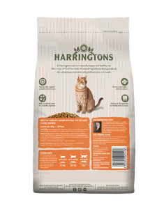 Harringtons Adult Dry Cat Food Complete Chicken with Rice
