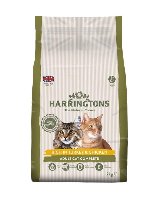 Harringtons Rich in Turkey & Chicken Dry Cat Food