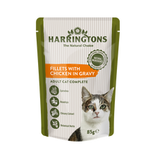 Load image into Gallery viewer, Harringtons Wet Cat Fillets with Chicken in Gravy