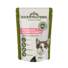 Load image into Gallery viewer, Harringtons Wet Cat Fillets with Salmon in Gravy