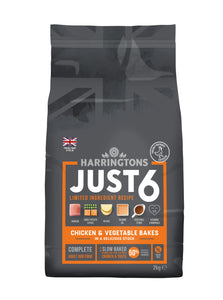 Just 6 Chicken & Vegetable Dry Dog Food
