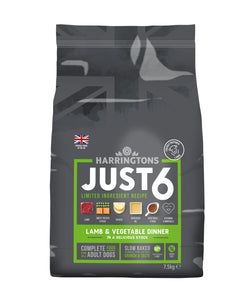Just 6 Lamb & Vegetable Dry Dog Food