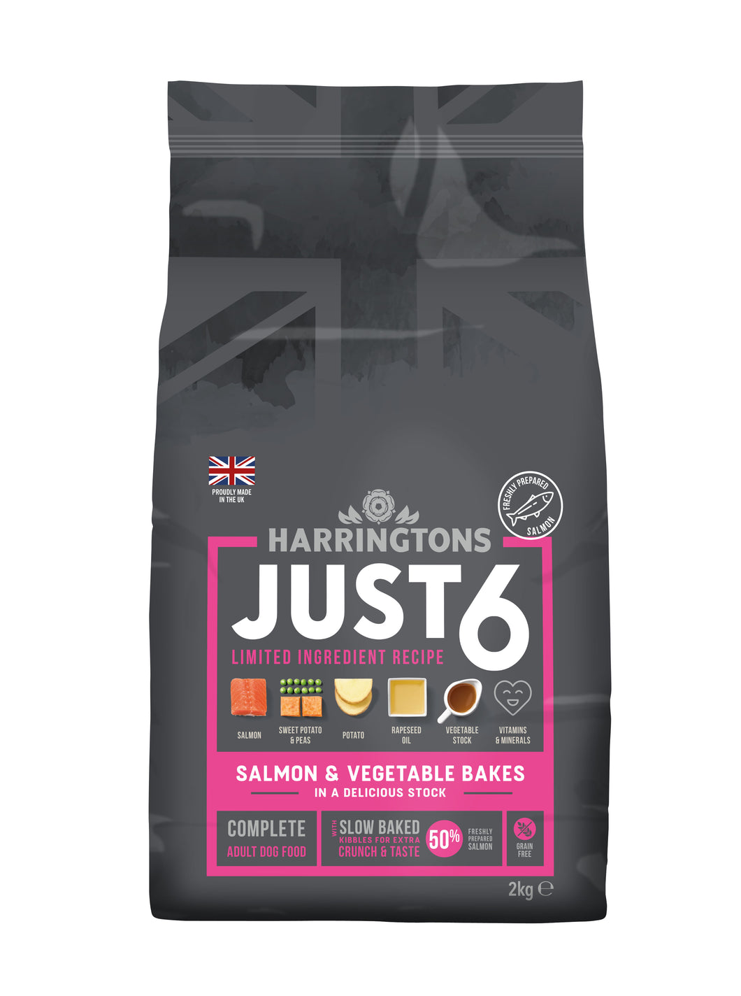 Just 6 Salmon & Vegetable Dry Dog Food