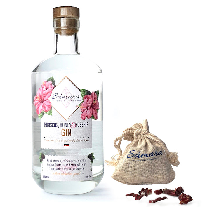 Sámara Gin - Inspired by Costa Rica, 70 cl + Free Hibiscus bag