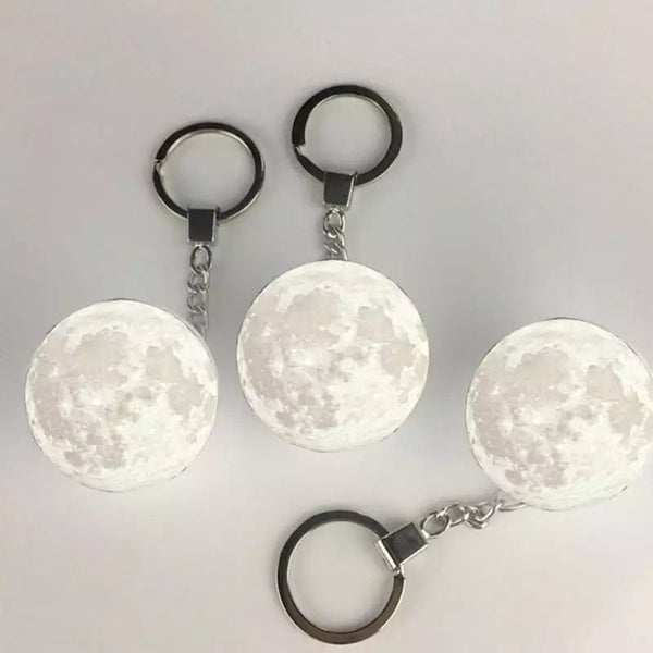 3D Moon Lamp Keychain LED