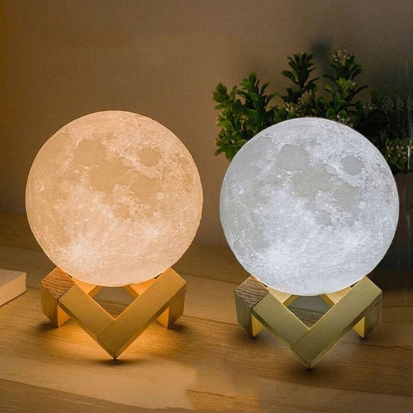3D Moon Lamp Night Light-Dimmable