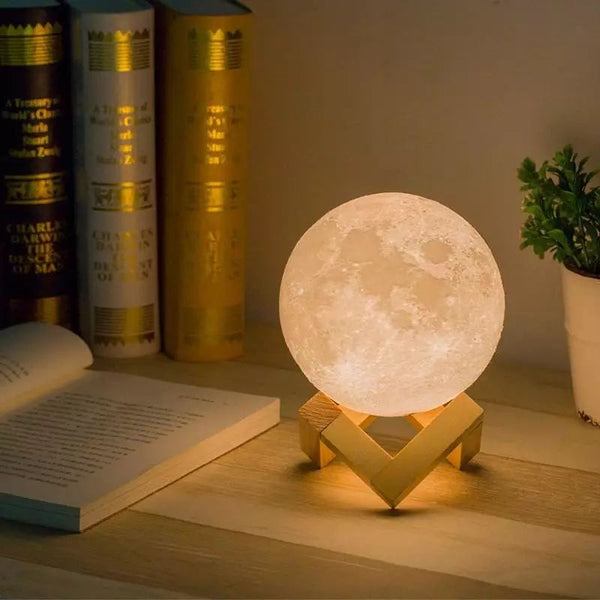3D Moon Lamp Night Light 16 Colors With Remote