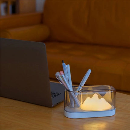 3D Mountain Pen Stand Lamp