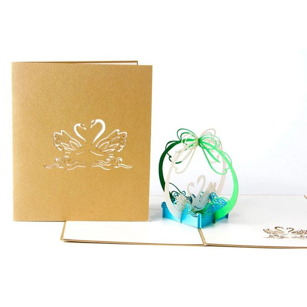 3D Swan Pop Up Card (Greeting Card)