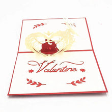 Load image into Gallery viewer, 3D Valentines Pop Up Cards (Greeting Card)