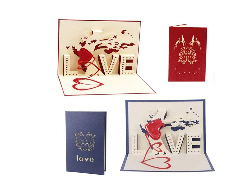 3D LOVE Sign Pop Up Card (Greeting Card)The Jholmaal Store