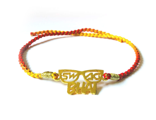 Swag Bhai - Modern Rakhi Gold Plated