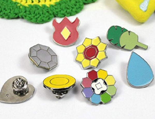 All Pokemon Gym Badges (Set of 8)The Jholmaal Store