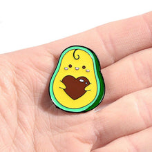 Load image into Gallery viewer, Avocado Heart Lapel Pin Badge