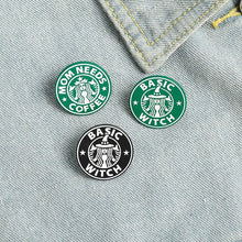 Load image into Gallery viewer, Starbucks Inspired Lapel Pin Badge (1pc)
