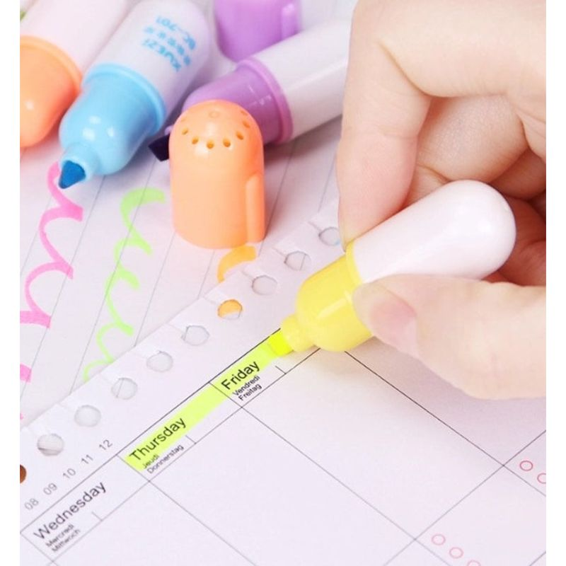 Capsule Highlighter Pens (Set of 6)
