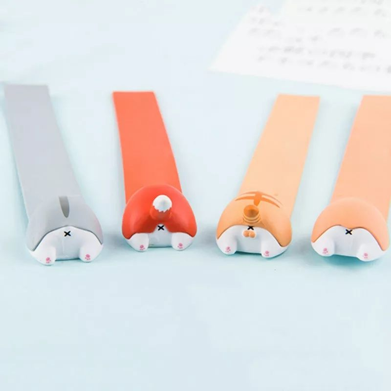 Cute Cat Butt Bookmark (Grey)