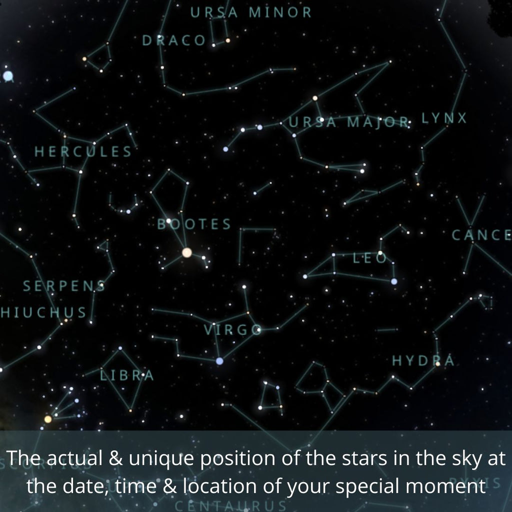 Customized Star Map - Virtual Gift With Message (No COD)