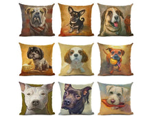 Load image into Gallery viewer, Dog Print Cushion Cover Pillow CaseThe Jholmaal Store