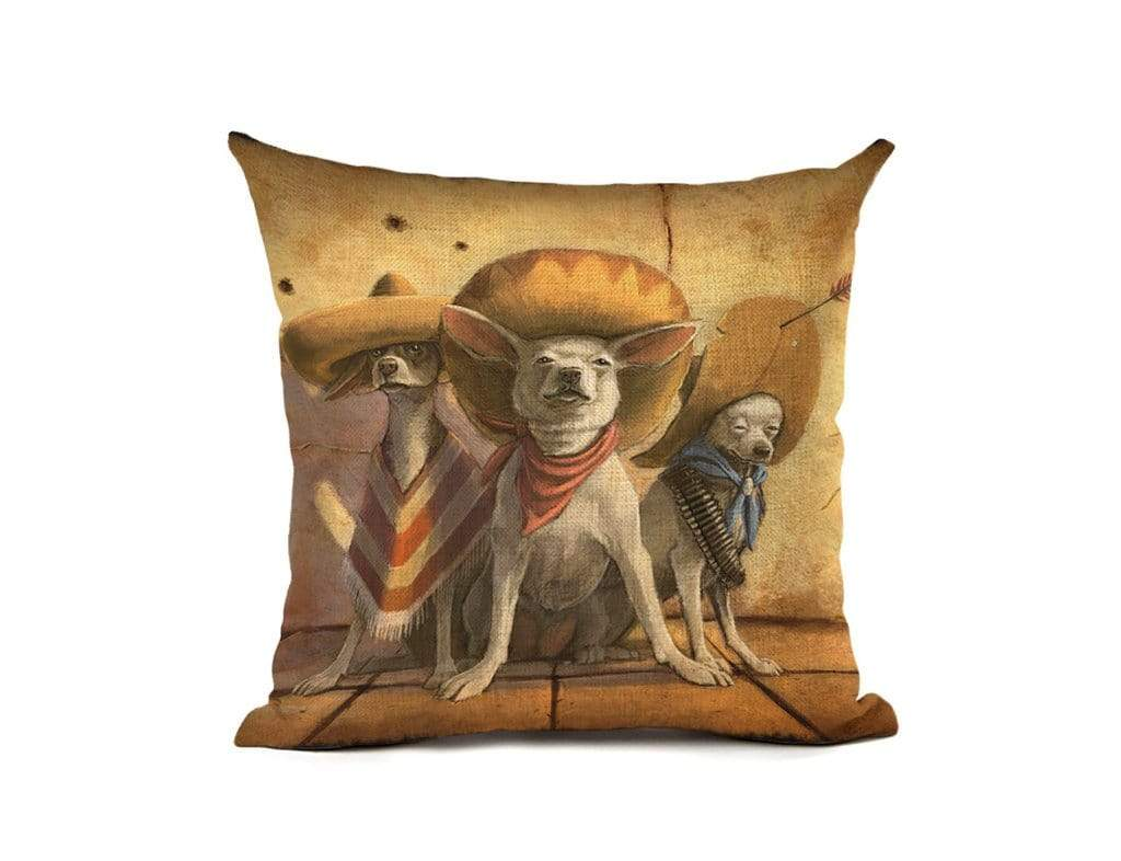 Dog Print Cushion Cover Pillow CaseThe Jholmaal Store