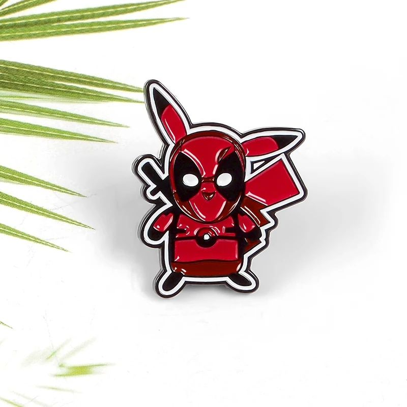 Deadpool Pikachu Lapel Pin Badge