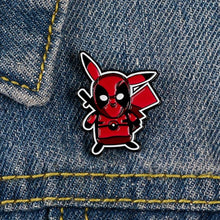 Load image into Gallery viewer, Deadpool Pikachu Lapel Pin Badge