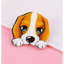 Load image into Gallery viewer, Beagle Dog Face Lapel Pin Badge