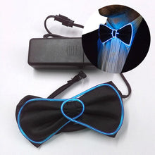 Load image into Gallery viewer, Neon LED Electroluminiscent Bowtie
