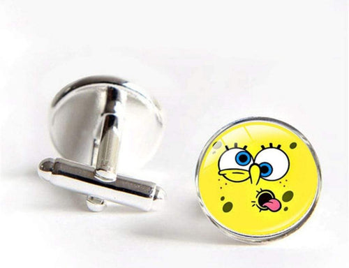 jholmaal - Sponge Bob Cufflinks for Mens