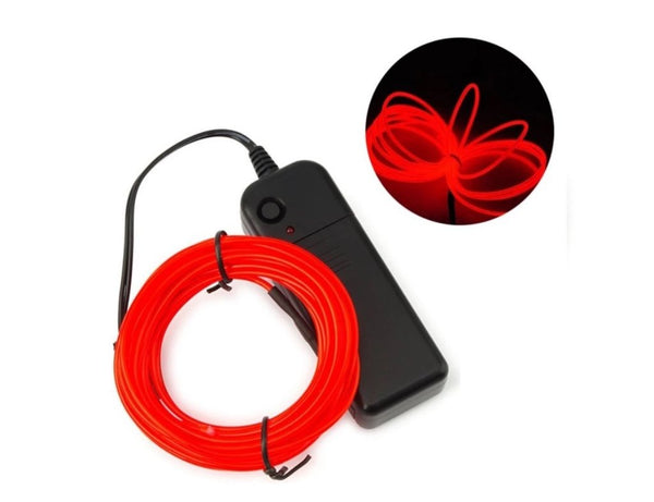 Neon LED Light Wires- Electroluminiscent EL Wires (5meters)The Jholmaal Store